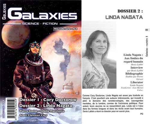 The Galaxies cover and first page of the dossier.