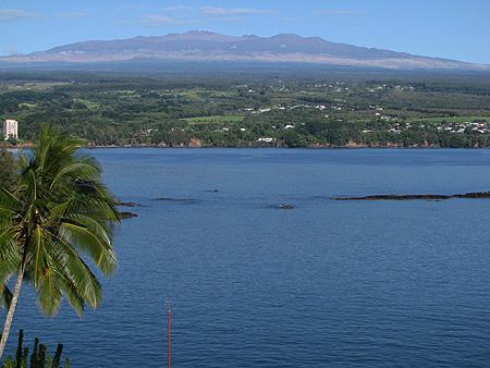 Mauna Kea, seen from Hilo.