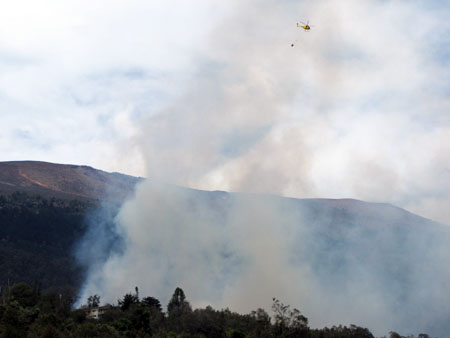 Fire in upper Kula on June 18, 2012