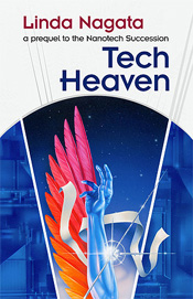 Tech-Heaven by Linda Nagata; cover by Bruce Jensen