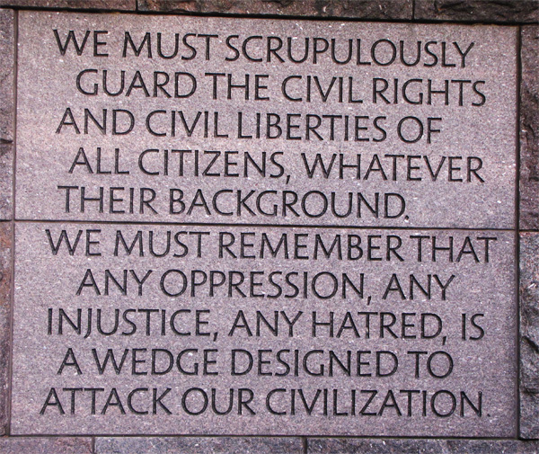 From the Roosevelt Memorial