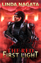 Cover for The Red: First Light; digital painting by Dallas Nagata White