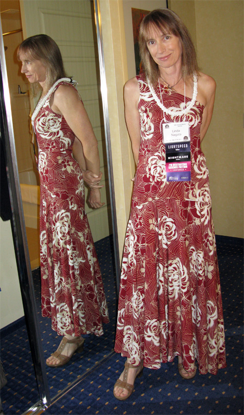 Linda Nagata in Iolani Sportswear dress worn to 2014 Nebula Banquet