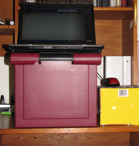 home-made stand-up desk