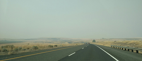 On Sunday, we headed back to Seattle on Interstate 90, surrounded by heavy smoke for much of the journey.
